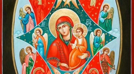 В Таштаголе отслужили молебен перед иконой Пресвятой Богородицы » Неопалимая Купина»